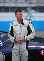 Apr 16, 2009; Avondale, AZ, USA; NASCAR Camping World Series West driver Chris Johnson prior to the Jimmie Johnson Foundation 150 at Phoenix International Raceway. Mandatory Credit: Mark J. Rebilas-