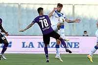 Erick Pulgar of Fiorentina and Daniele Dessena of Brescia Calcio compete for the ball during the Serie A football match between ACF Fiorentina and Brescia Calcio at Artemio Franchi stadium in Florence ( Italy ), June 22th, 2020. Play resumes behind closed doors following the outbreak of the coronavirus disease. <br /> Photo Antonietta Baldassarre / Insidefoto