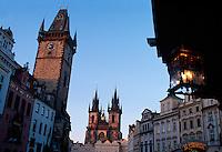 Teyn-Kirche, (Tysky Chram), Prag, Tschechien, Unesco-Weltkulturerbe.