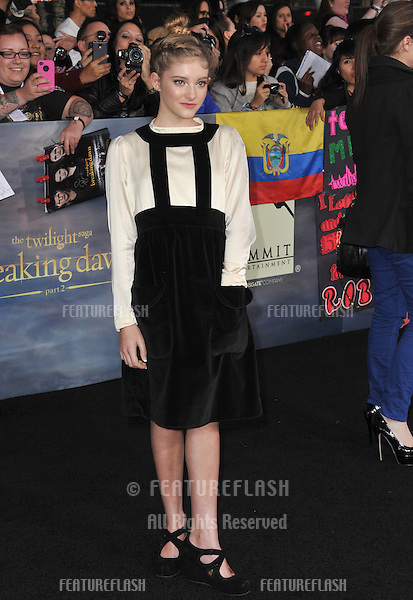 "Willow Shields at the world premiere of ""The Twilight Saga: Breaking Dawn - Part 2"" at the Nokia Theatre LA Live..November 12, 2012  Los Angeles, CA.Picture: Paul Smith / Featureflash"