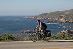 Bicyclist at Big Sur