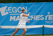 June 14th 2017, The Northern Lawn tennis Club, Manchester, England; ITF Womens tennis tournament; Marina Erakovic (NZL) in action during her first round singles match against number seven seed Aleksandra Krunic (SRB); Krunic won in three sets