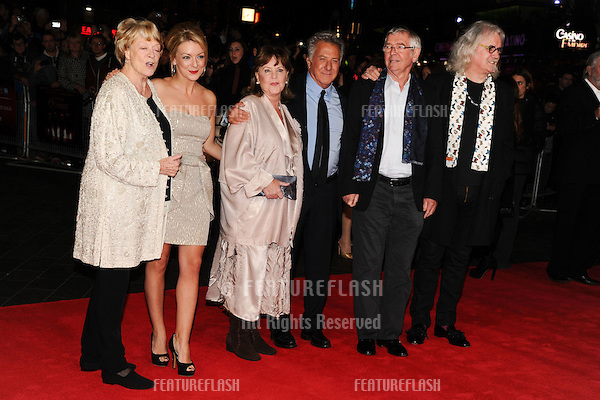 "Dame Maggie Smith, Sheridan Smith, Pauline Collins, Tom Courtney and Billy Connolly and Dustin Hoffman at the premiere for ""Quartet"" being shown as part of the London Film Festival 2012, Odeon Leicester Square, London. 15/10/2012 Picture by: Steve Vas / Featureflash"