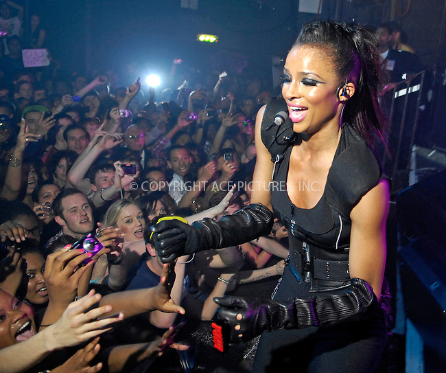 WWW.ACEPIXS.COM . . . . .  ..... . . . . US SALES ONLY . . . . .....April 25 2009, London....Singer Ciara live at G-A-Y in London onApril 25 2009 in London....Please byline: FAMOUS-ACE PICTURES... . . . .  ....Ace Pictures, Inc:  ..tel: (212) 243 8787 or (646) 769 0430..e-mail: info@acepixs.com..web: http://www.acepixs.com