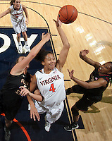 Virginia Cavaliers center Simone Egwu (4) grabs a rebound during the game against Florida State Jan. 29, 2012 in Charlottesville, Va.  Virginia defeated Florida State 62-52.