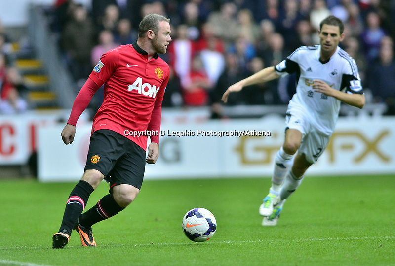 Wayne Rooney on the ball.<br />