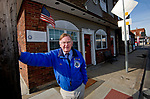 WATERBURY, CT-011719JS03- Bob Dorr,  Executive Director at Credo Housing Development Corp. stands outside office located inside the historic Carney Building on Thomaston Avenue in Waterbury. His organization offers housing for needy veterans and if funded through the Housing and Urban Development. As the government shutdown continues, Dorr is concerned at his grant will expire at the end of the month. <br /> Jim Shannon Republican American