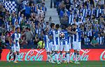 CD Leganes' players celebrate goal during La Liga match. May 20,2017. (ALTERPHOTOS/Inma Garcia)