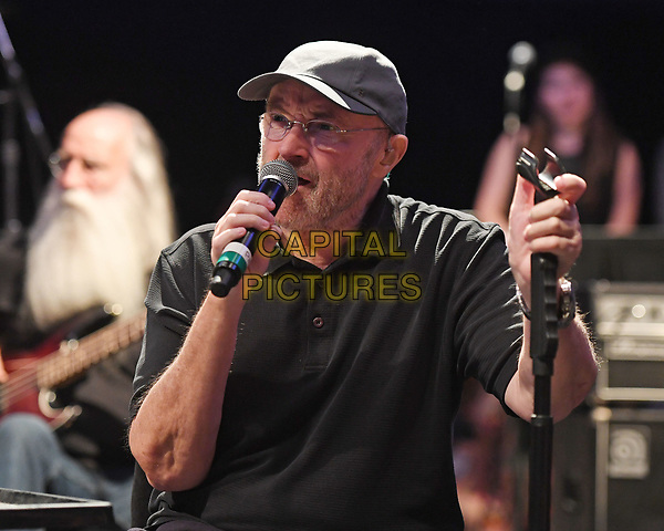 MIAMI, FL - DECEMBER 08: Phil Collins performs during rehearsals for the Little Dreamers Foundation Gala at SIR Studios on December 8, 2017 in Miami Florida. <br /> CAP/MPI04<br /> &copy;MPI04/Capital Pictures