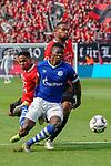 11.05.2019, BayArena, Leverkusen, GER, 1. FBL, Bayer 04 Leverkusen vs. FC Schalke 04 ,<br />  <br /> DFL regulations prohibit any use of photographs as image sequences and/or quasi-video<br /> <br /> im Bild / picture shows: <br /> Wendell (Leverkusen #18), Jonathan Tah (Leverkusen #4), im Zweikampf gegen  Breel Embolo (FC Schalke #36), <br /> <br /> Foto &copy; nordphoto / Meuter