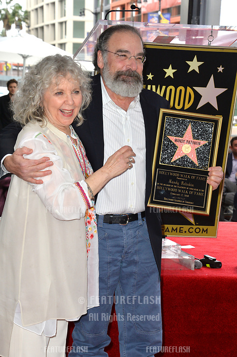 Mandy Patinkin &amp; Kathryn Grody at the Hollywood Walk of Fame Star Ceremony honoring actor Mandy Patinkin on Hollywood Boulevard, Los Angeles, USA 12 Feb. 2018<br /> Picture: Paul Smith/Featureflash/SilverHub 0208 004 5359 sales@silverhubmedia.com