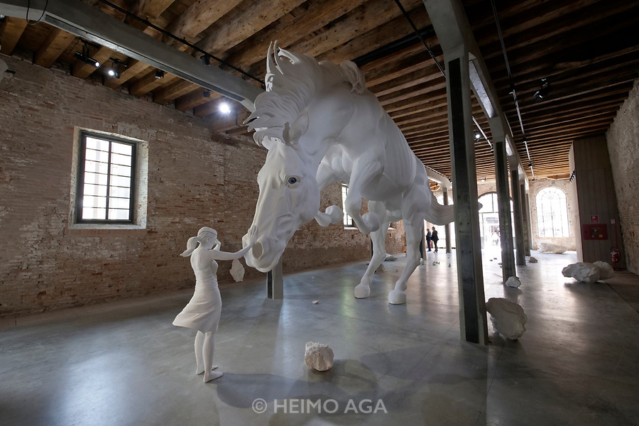 57th Art Biennale in Venice - Viva Arte Viva.<br /> Arsenale.<br /> Argentina. Claudia Fontes: The horse problem