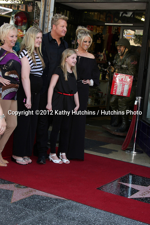 LOS ANGELES - SEP 17:  Gary LeVox and family at the Hollywood Walk of Fame Star Ceremony for Rascal Flatts at Hollywood Boulevard on September 17, 2012 in Los Angeles, CA
