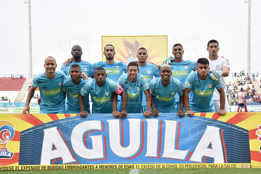 MONTERIA - COLOMBIA, 30-03-2019: Jugadores de Jaguares posan para una foto previo al partido por la fecha 12 de la Liga Águila I 2019 entre Jaguares de Córdoba F.C. y Atlético Junior jugado en el estadio Jaraguay de la ciudad de Montería. / Players of Jaguares pose to a photo prior the match for the date 12 as part Aguila League I 2019 between Jaguares de Cordoba F.C. and Atletico Junior played at Jaraguay stadium in Monteria city. Photo: VizzorImage / Andres Felipe Lopez / Cont