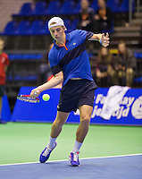 Rotterdam, Netherlands, December 18, 2015,  Topsport Centrum, Lotto NK Tennis, Tallon Griekspoor (NED)<br /> Photo: Tennisimages/Henk Koster