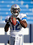 3 September 2009:  Detroit Lions' wide receiver  Derrick Williams warms up prior to a pre-season game against the Buffalo Bills at Ralph Wilson Stadium in Orchard Park, New York. The Lions defeated the Bills 17-6...Mandatory Photo Credit: Ed Wolfstein Photo