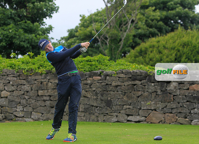 Craig Blakeney (Royal Tara) on the 1st tee during R2 of the 2016 Connacht U18 Boys Open, played at Galway Golf Club, Galway, Galway, Ireland. 06/07/2016. <br /> Picture: Thos Caffrey | Golffile<br /> <br /> All photos usage must carry mandatory copyright credit   (&copy; Golffile | Thos Caffrey)