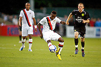 Manchester City's Alex Nimley during a match at Merlo Field in Portland Oregon on July 17, 2010.