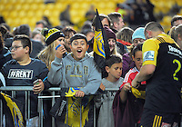 Fans waits for autographs after the Super Rugby match between the Hurricanes and Southern Kings at Westpac Stadium, Wellington, New Zealand on Friday, 25 March 2016. Photo: Dave Lintott / lintottphoto.co.nz