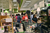 MIRAMAR, FL - OCTOBER 06: Consumer shopping at the dairy section at Publix supermarket in Miramar, Florida in preparation for the landfall of Hurricane Matthew on October 6, 2016 in Miramar, Florida. The hurricane is expected to make landfall sometime this evening or early in the morning as a possible category 4 storm.Credit: MPI10 / MediaPunch