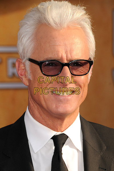 John Slattery.Arrivals at the 19th Annual Screen Actors Guild Awards at the Shrine Auditorium in Los Angeles, California, USA..27th January 2013.SAG SAGs headshot portrait black tinted glasses tie white shirt sunglasses shades .CAP/ADM/BP.©Byron Purvis/AdMedia/Capital Pictures