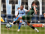 Miguel Cifuentes (Malaga CF) and Francisco Montero (RC Deportivo de la Coruna) competes for the ball during La Liga Smartbank match round 39 between Malaga CF and RC Deportivo de la Coruna at La Rosaleda Stadium in Malaga, Spain, as the season resumed following a three-month absence due to the novel coronavirus COVID-19 pandemic. Jul 03, 2020. (ALTERPHOTOS/Manu R.B.)