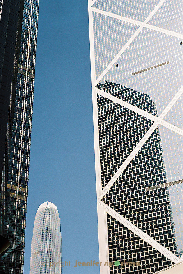 three generations of hong kong's tallest buildings
