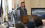 Gov. Brian Sandoval speaks at the USS Nevada Centennial Ceremony at the Capitol in Carson City, Nev., on Friday, March 11, 2016. Cathleen Allison/Las Vegas Review-Journal
