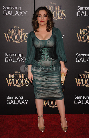 New York,NY-December 8: Alyssa Milano attends the 'Into The Woods' world premiere at the Ziegfeld Theater on December 8, 2014. Credit: John Palmer/MediaPunch