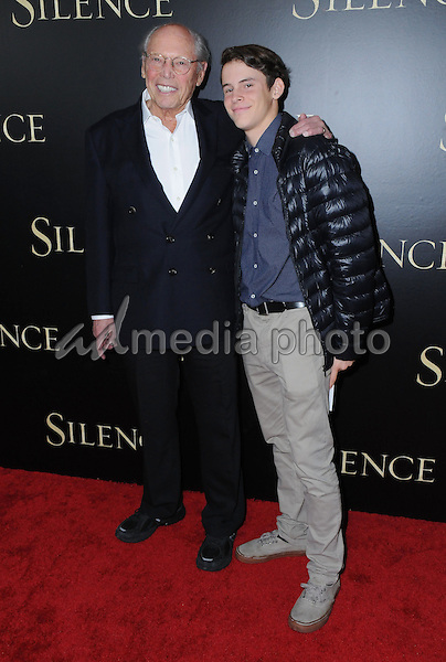 "05 January 2017 - West Hollywood, California - Irwin Winkler, Sebastian Winkler. ""Silence"" Los Angeles Premiere held at the Directors Guild of America. Photo Credit: Birdie Thompson/AdMedia"
