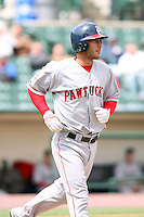 April 30th 2008:  George Kottaras (26) of the Pawtucket Red Sox, Class-AAA affiliate of the Boston Red Sox, at bat during a game at Frontier Field  in Rochester, NY.  Photo by Mike Janes/Four Seam Images