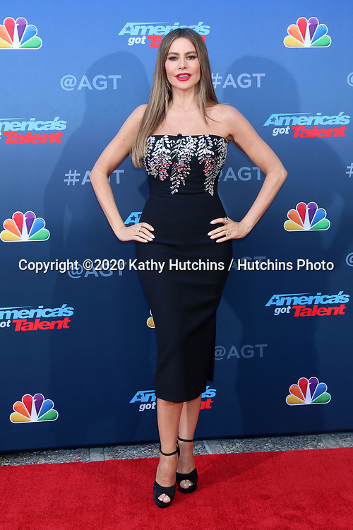 LOS ANGELES - MAR 4:  Sophia Vergara at the America's Got Talent Season 15 Kickoff Red Carpet at the Pasadena Civic Auditorium on March 4, 2020 in Pasadena, CA