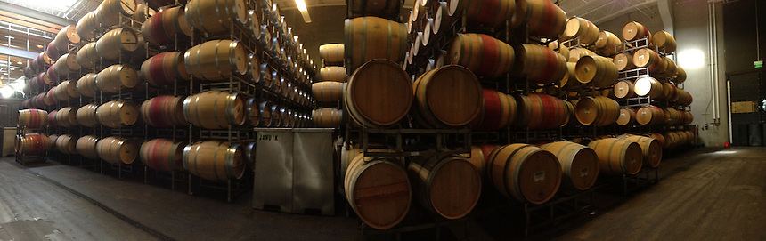 Cold Barrel Storage Room, Novelty Hill-Januik Winery, Woodinville, WA