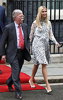 John Bolton, US National Security Advisor and Ivanka Trump  outside No 10 Downing Street on the second day of the State Visit to the UK. June 4th 2019<br /> CAP/ROS<br /> ©ROS/Capital Pictures