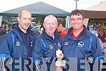 Abbeyfeale locals Paul Morris, Vincent Sheehy and Mike Cross pictured last Sunday at the annual Abbeyfeale parish fete in Fr Casey's GAA.