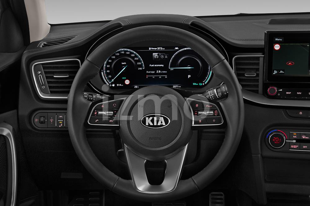Car pictures of steering wheel view of a 2020 KIA Ceed-SW-PHEV Business-Line 5 Door Wagon Steering Wheel