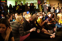 More than 70 students and friends gathered in Weter Hall Lounge on the SPU campus to watch local bands compete in the KSPU Covers concert on Friday.