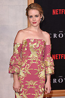 LONDON, UK. November 1, 2016: Claire Foy at the World Premiere of the Netflix series &quot;The Crown&quot; at the Odeon Leicester Square, London.<br /> Picture: Steve Vas/Featureflash/SilverHub 0208 004 5359/ 07711 972644 Editors@silverhubmedia.com