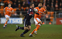 Blackpool's Liam Feeney battles for the ball<br /> <br /> Photographer Dave Howarth/CameraSport<br /> <br /> The EFL Sky Bet League One - Blackpool v Doncaster Rovers - Tuesday 12th March 2019 - Bloomfield Road - Blackpool<br /> <br /> World Copyright &copy; 2019 CameraSport. All rights reserved. 43 Linden Ave. Countesthorpe. Leicester. England. LE8 5PG - Tel: +44 (0) 116 277 4147 - admin@camerasport.com - www.camerasport.com