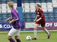 09 MAY 2007 - LONDON, UK - Alex Shepherd - Loughborough University (Maroon) v Brighton University (Purple) - BUSA Womens Football Championships. (PHOTO (C) NIGEL FARROW)