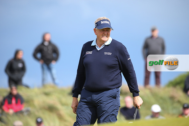 Colin Montgomerie (SCO) during Round One of the 2016 Aberdeen Asset Management Scottish Open, played at Castle Stuart Golf Club, Inverness, Scotland. 07/07/2016. Picture: David Lloyd | Golffile.<br /> <br /> All photos usage must carry mandatory copyright credit (&copy; Golffile | David Lloyd)