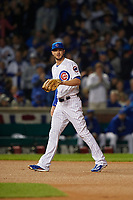 Chicago Cubs third baseman Kris Bryant (17) in the first inning during Game 3 of the Major League Baseball World Series against the Cleveland Indians on October 28, 2016 at Wrigley Field in Chicago, Illinois.  (Mike Janes/Four Seam Images)
