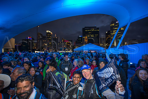 April 30th 2017, Auckland, New Zealand; Closing Ceremony of the World Masters Games; A large crowd of athletes during the closing ceremony of the World Masters Games 2017 held at The Cloud on Auckland's waterfront