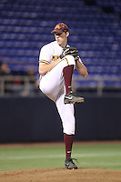 Minnesota Golden Gophers pitcher Tom Windle #38 pitches during a game against the Indiana State Sycamores at the Metrodome on March 15, 2013 in Minneapolis, Minnesota. (Brace Hemmelgarn/Four Seam Images)