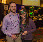 A photograph taken during the Mardi Gras ball in the Reno Ballroom on Saturday, March 24, 2018.