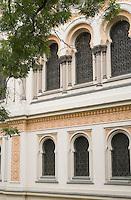 Europe/République Tchèque/Prague:Quartier Juif - Détail de la Synagogue Espagnole - Style mauresque
