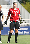 24 August 2008: Carolina's Amy Haggard. The Duke University Blue Devils defeated the Coastal Carolina University Lady Chanticleers 9-0 at Koskinen Stadium in Durham, North Carolina in an NCAA Division I Women's college soccer game.