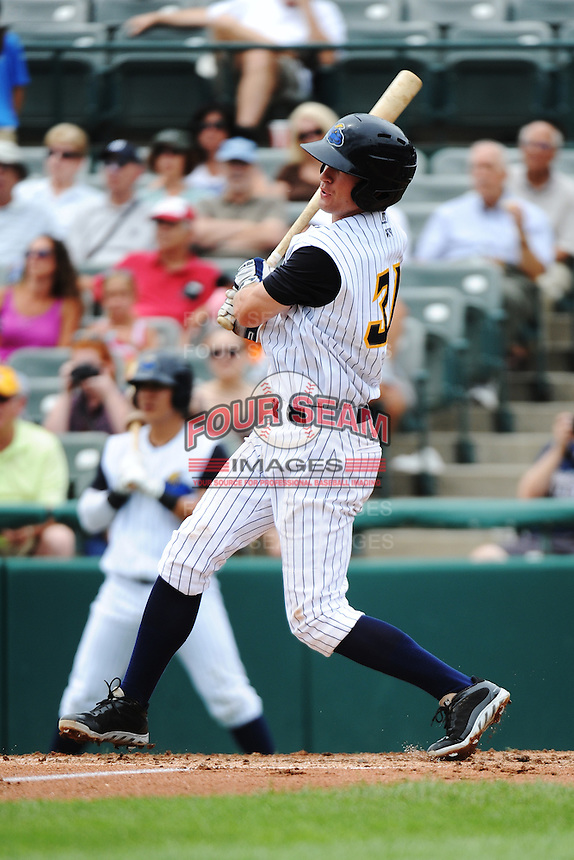 Trenton Thunder infielder Casey Stevenson (31) during game against the Altoona Curve at ARM & HAMMER Park on July 24, 2013 in Trenton, NJ.  Altoona defeated Trenton 4-2.  Tomasso DeRosa/Four Seam Images
