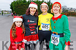 Aisha Pabon, Ailish Brosnan, Caroline Murphy and Majella Diskin at the Run Rudolph Run at An Riocht in Castleisland on Sunday.