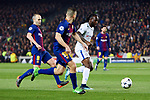 UEFA Champions League 2017/2018.<br /> Round of 16 2nd leg.<br /> FC Barcelona vs Chelsea FC: 3-0.<br /> Andres Iniesta, Jordi Alba &amp; Victor Moses.